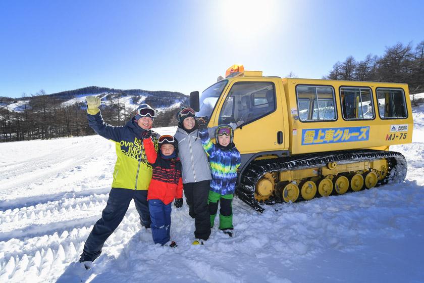 みんな大満足の雪上車クルーズへGO!