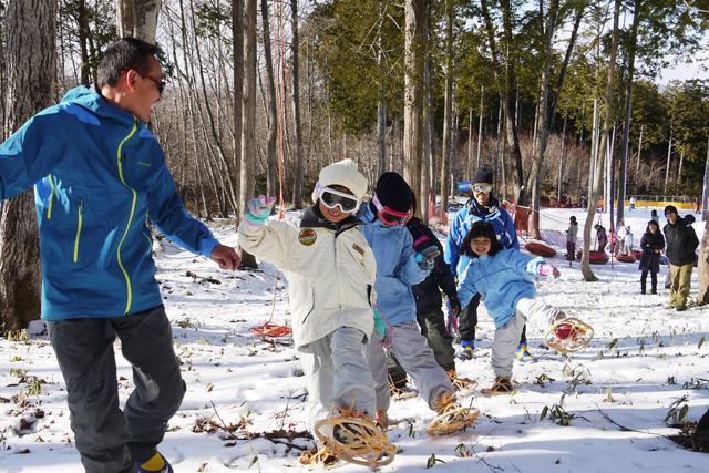 雪山で冒険ツアー!キッズアドベンチャー