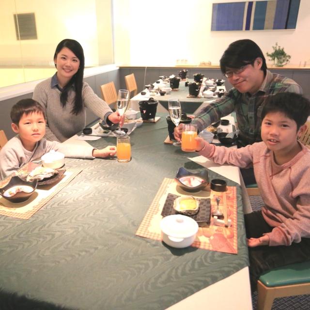 美味しい食事で子どもたちも大満足