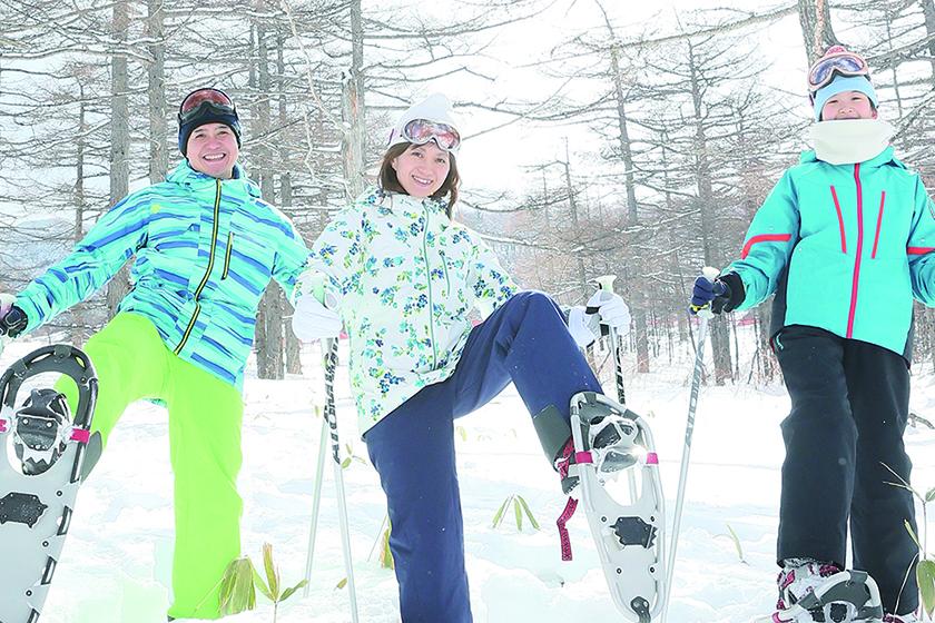 小学5年生以上対象スノーシューで冬の森散策
