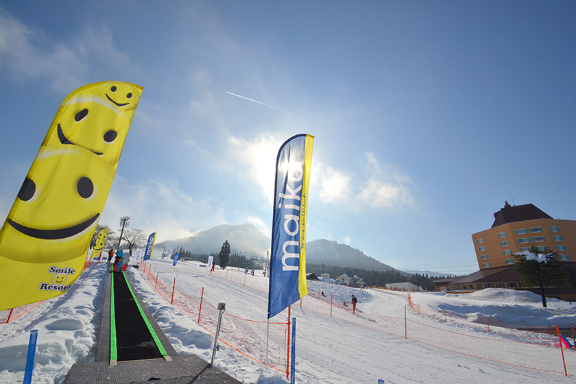 スノーエスカレーター常設でラクラク雪遊び