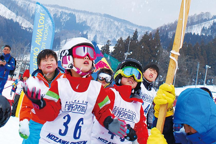 3月24日(日)野沢温泉 大雪上運動会