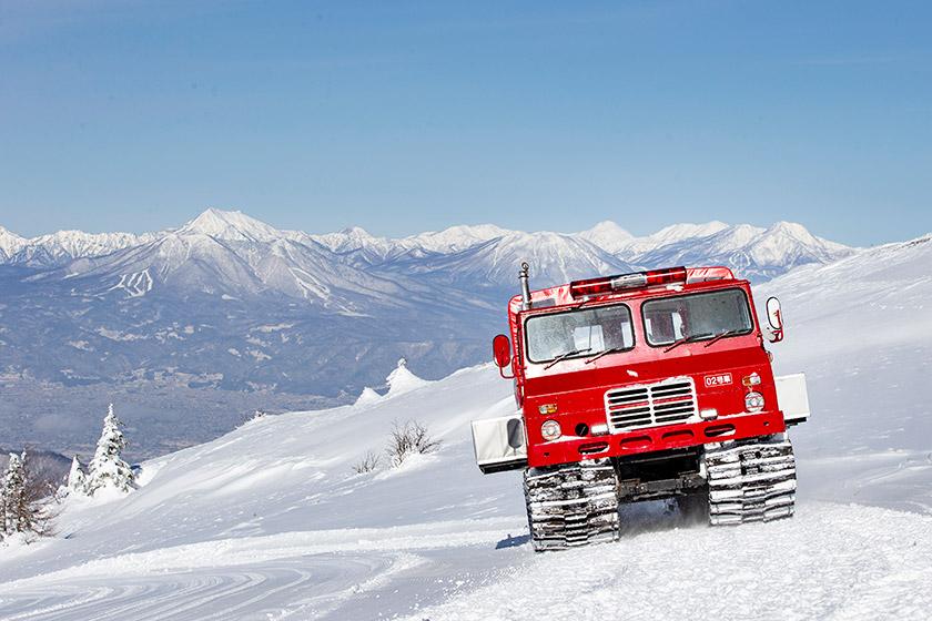 大パノラマと樹氷の絶景雪上車スノーキャットツア!ー