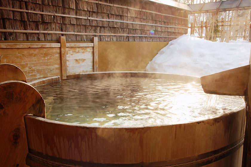 11種類の露天風呂は貸切だから子ども連れも気兼ねなく楽しめる