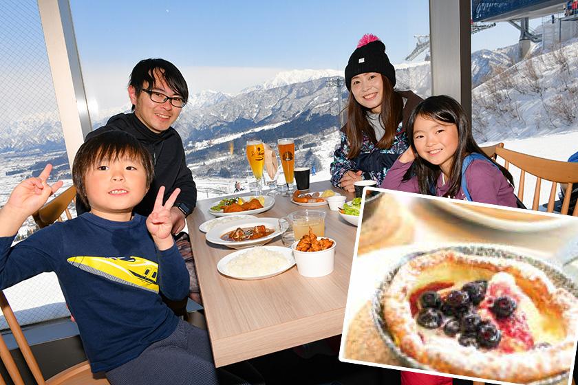ゴンドラ山頂カフェに ワイルドかわいい 「雪山のパンケーキ」が登場♪