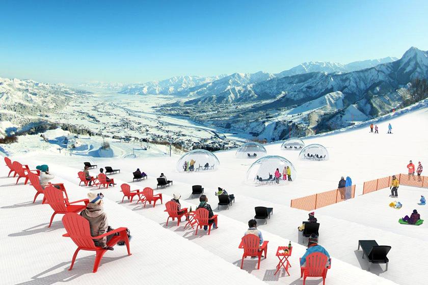 雪遊びもできる複合施設 「スノーガーデン」オープン!