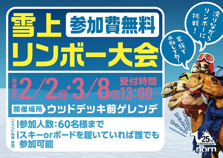2/2(日)ノルン 雪上リンボー大会