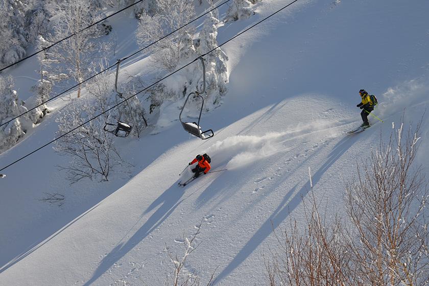 北向きに面しているから、 1日を通して コンディションのよい 雪質が楽しめます!